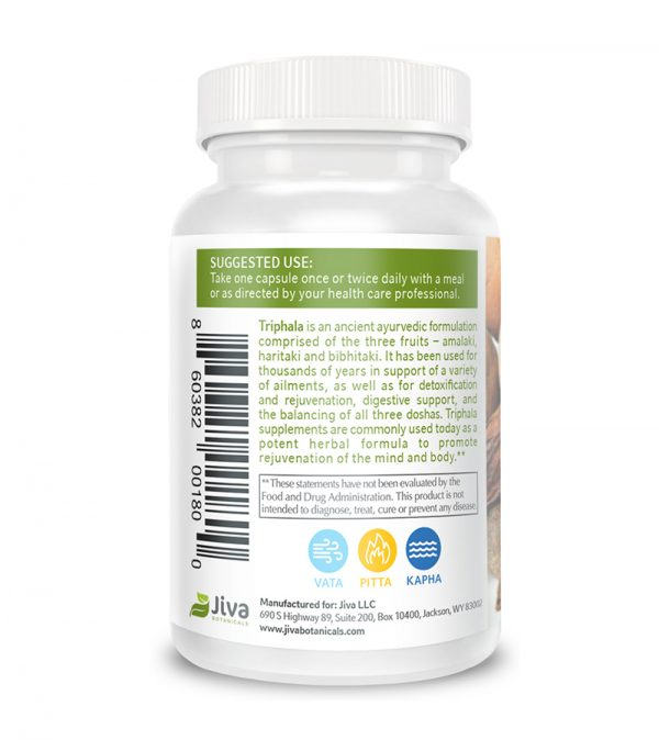 back triphala supplement info